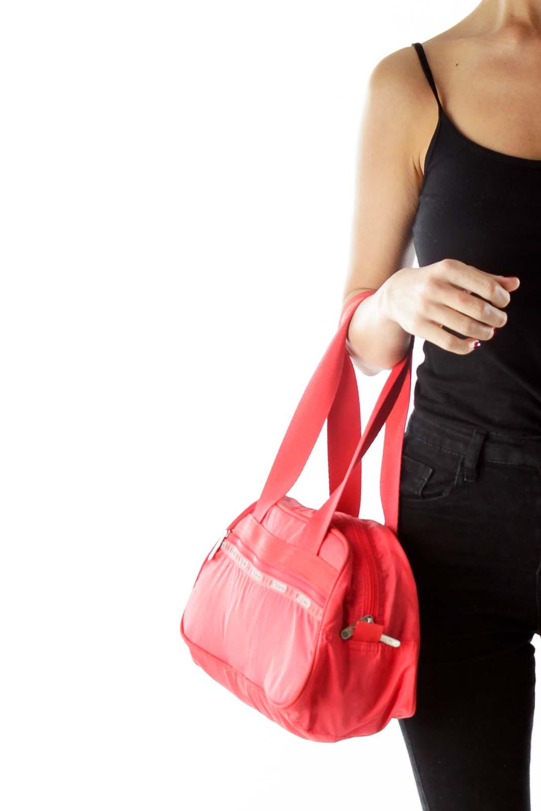 Red Nylon Shoulder Bag