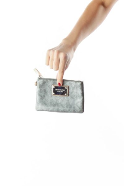 Gray Metallic  Wallet