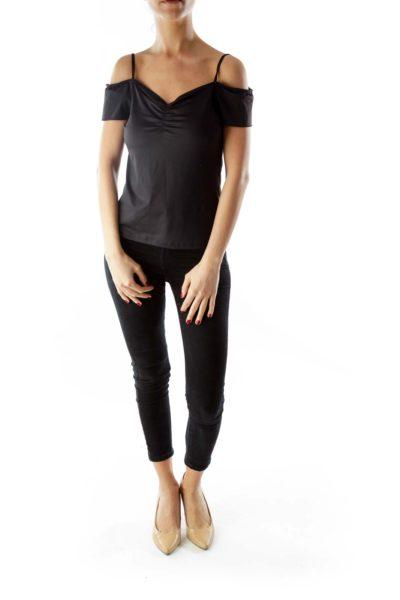 Black Spaghetti Strap T-Shirt