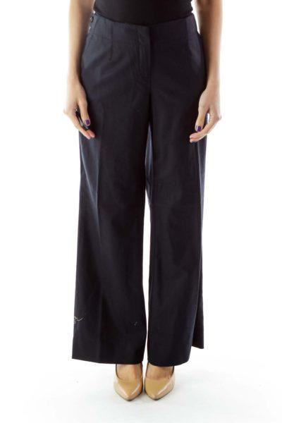 Black Wide-Leg Pants