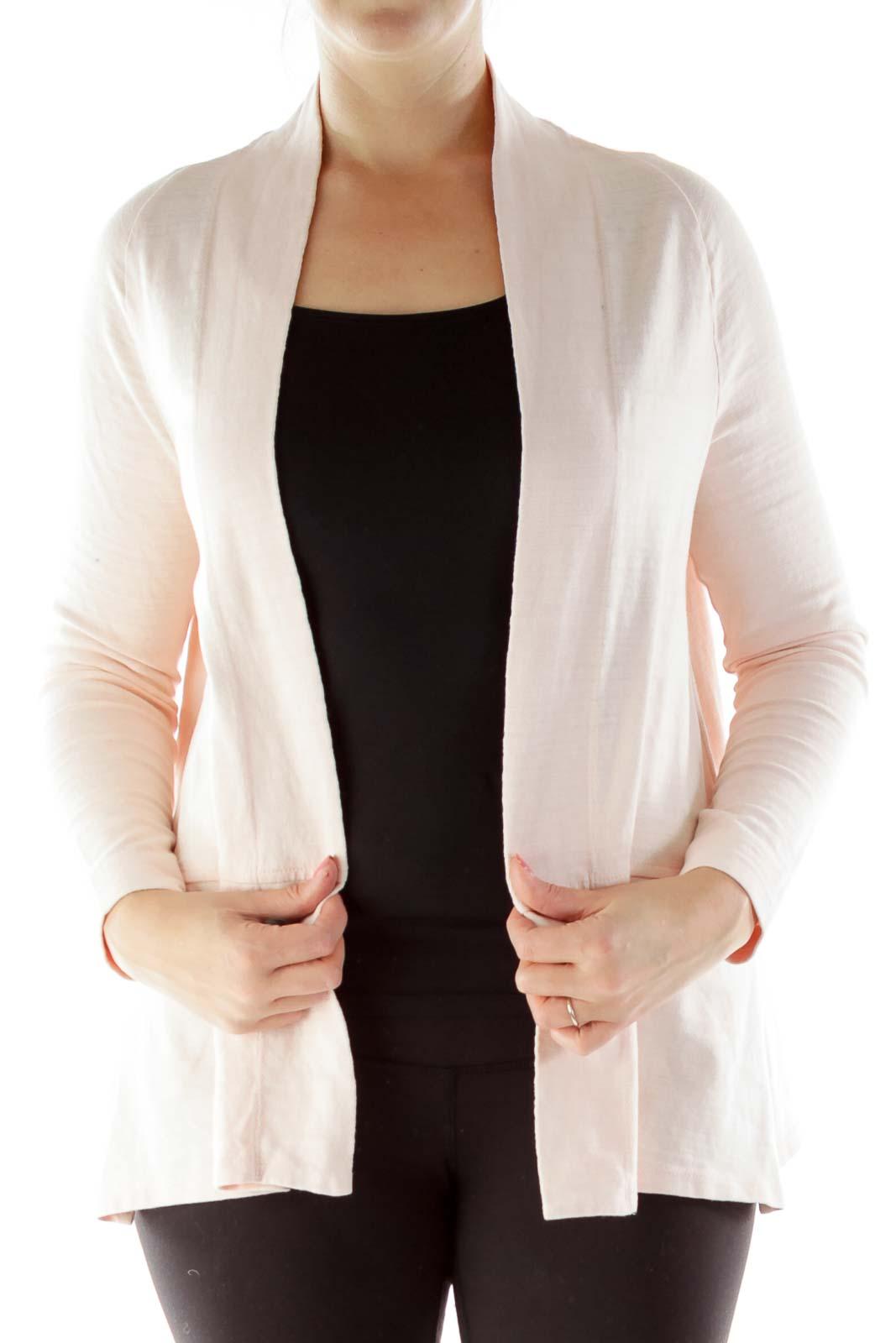 Light Pink Buttonless Cardigan