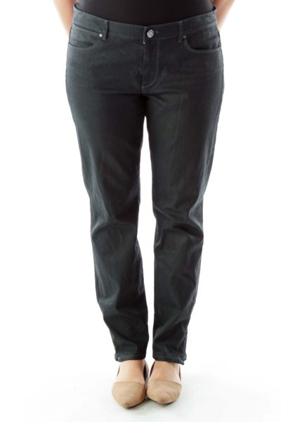 Black Jeans with Zippered Ankles