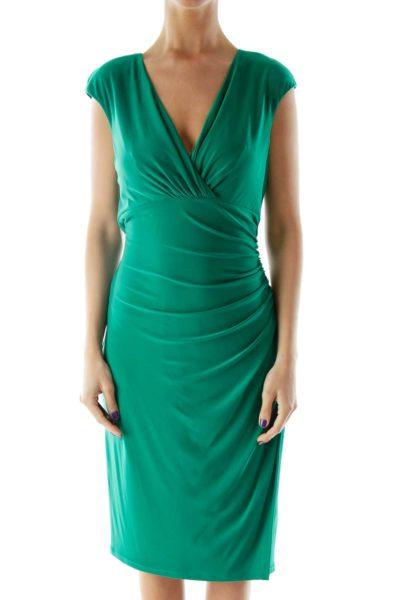 Green Scrunched Dress