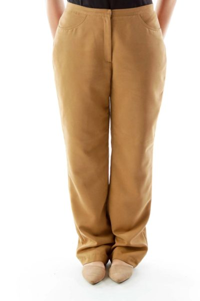 Brown Suede Pants
