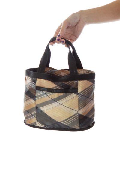 Multicolored Plaid Print Bag