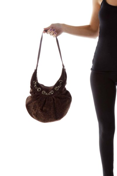 Brown Cheetah Bag