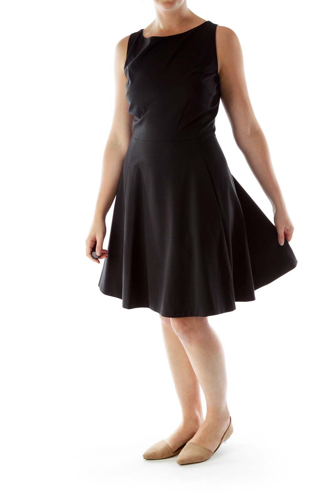 Black Dress with back Bow detailing