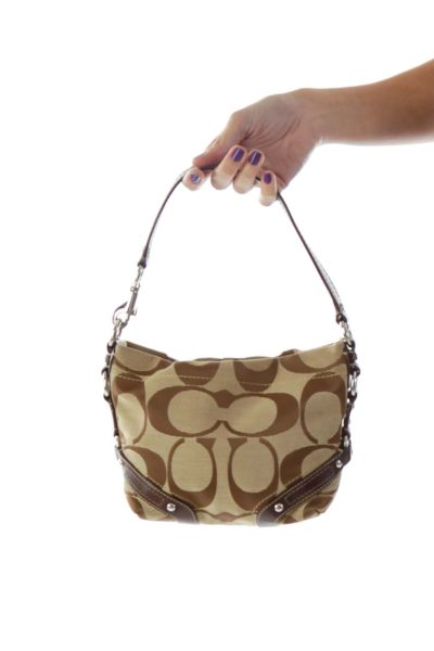 Beige and Brown Small Bag