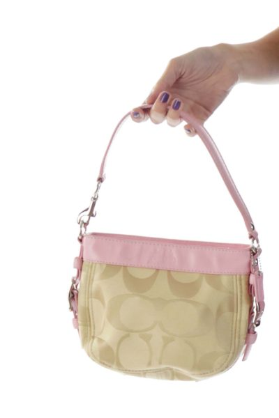 Pink and Beige Bag