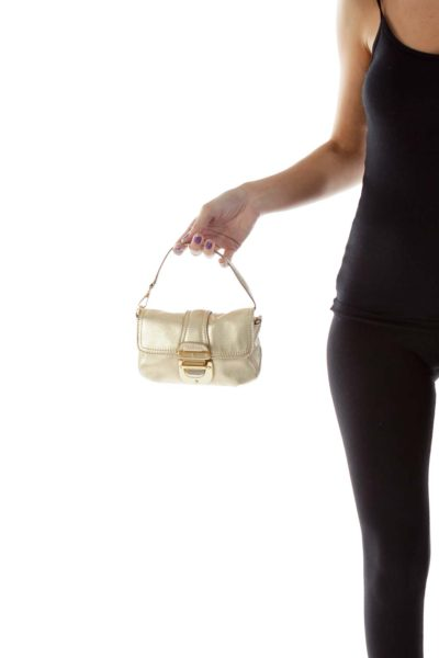 Small Gold Leather Bag