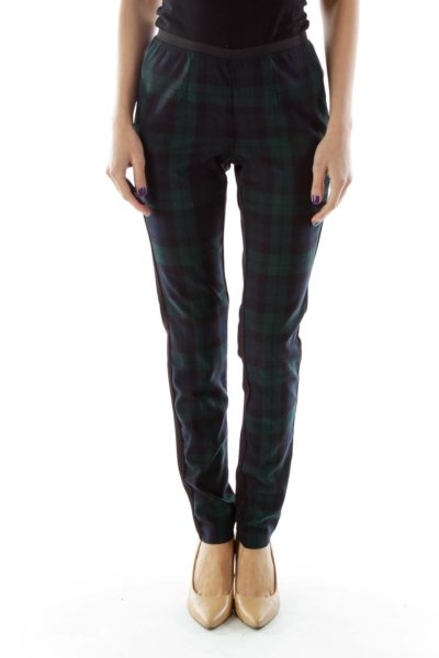 Green & Black Plaid Leggings