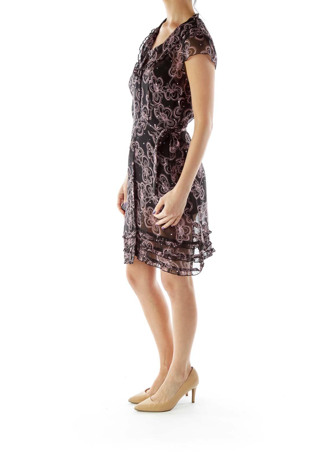Black Sheer Dress with Sparkles