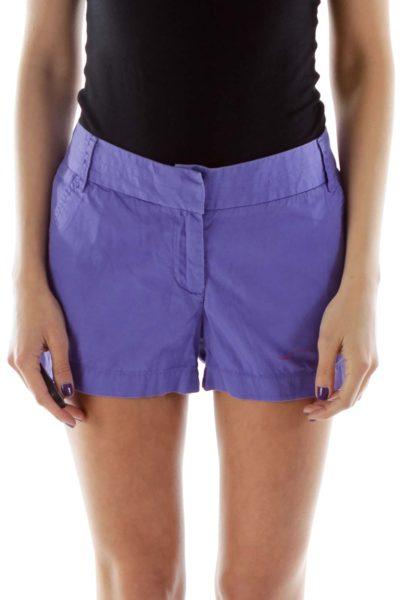 Purple Cotton Shorts