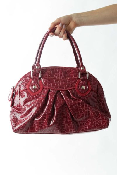 Burgundy Alligator Bag