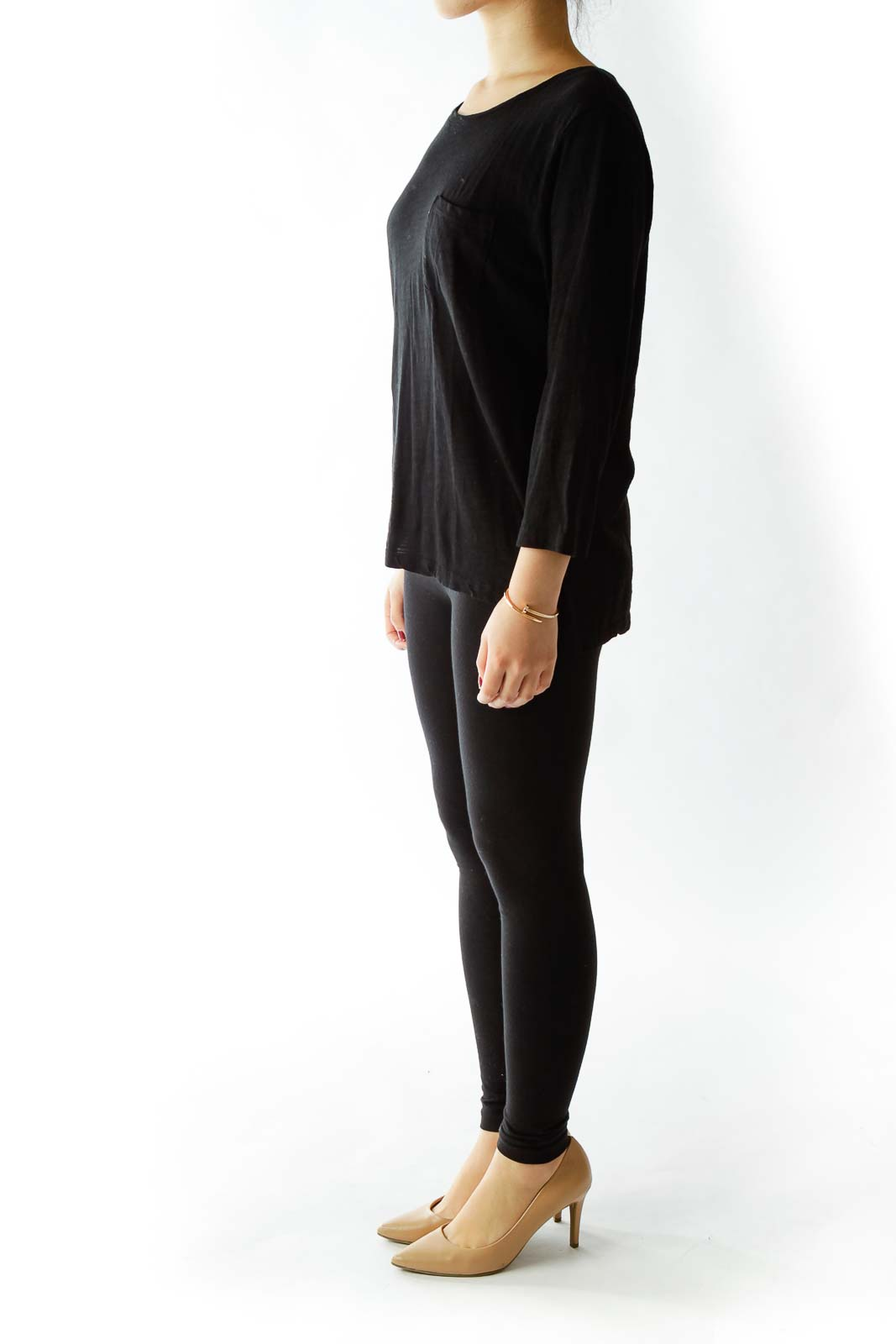 Black Pocketed Long Sleeve