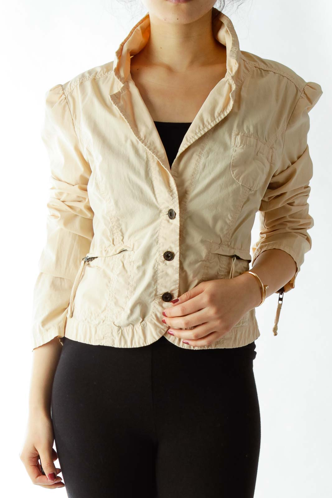 Beige Zippered Coat