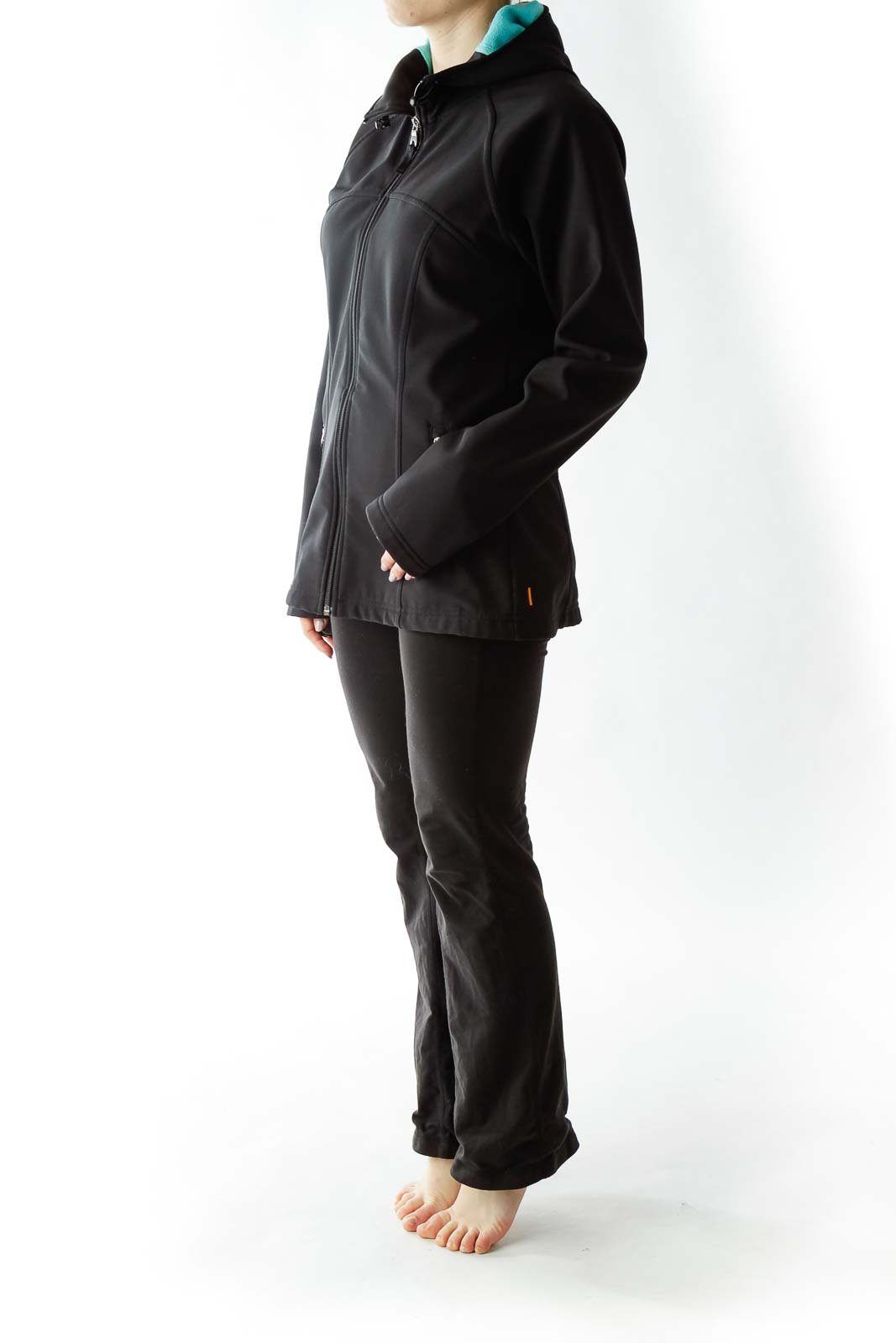 Black Sports Jacket with Blue Interior