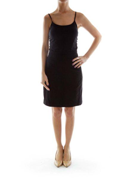 Black Wool Pencil Skirt