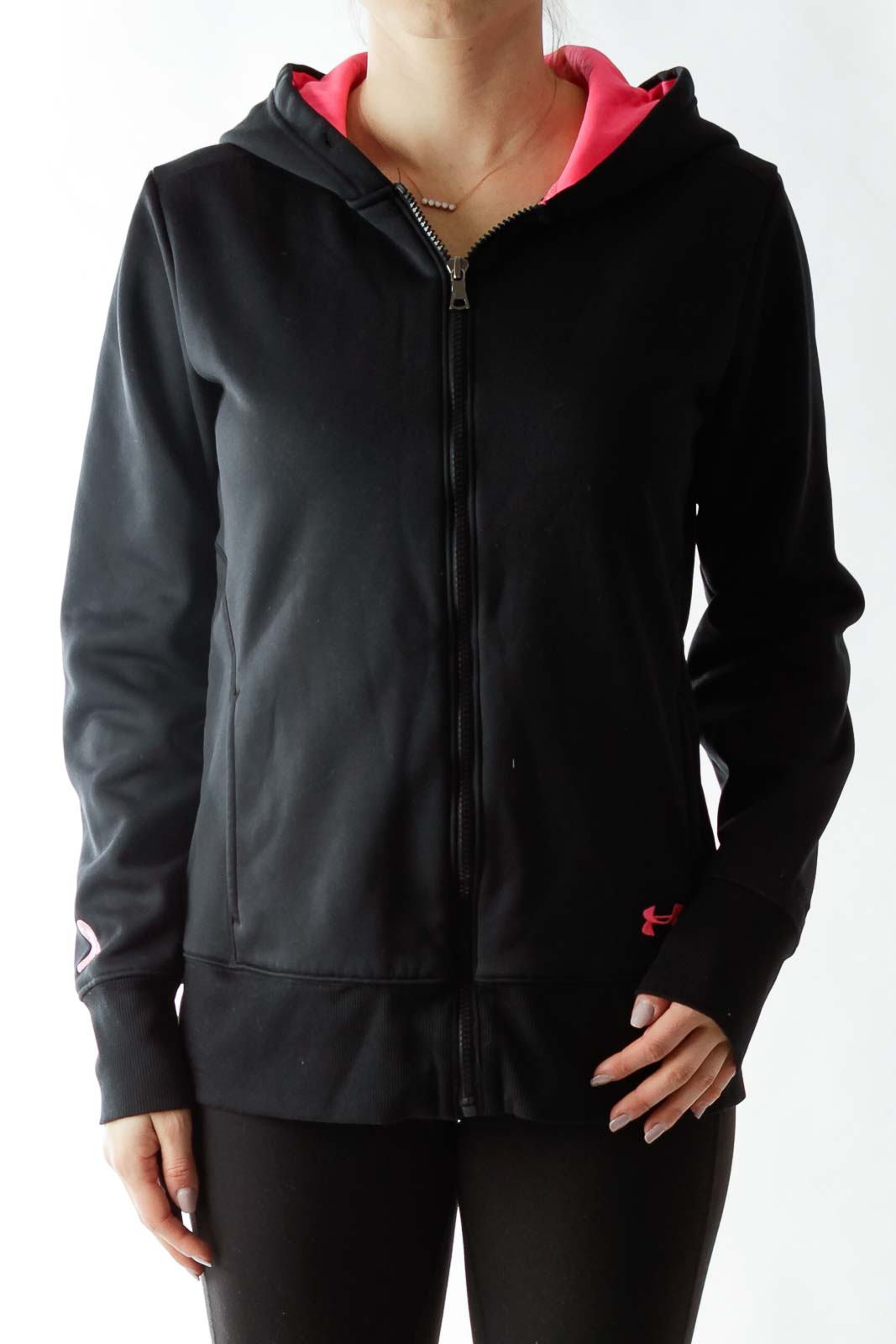 Black Hooded Sports Jacket