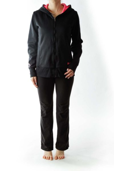 Black Hooded Sports Jacket