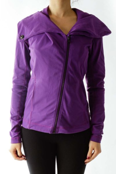 Purple Fitted Jacket