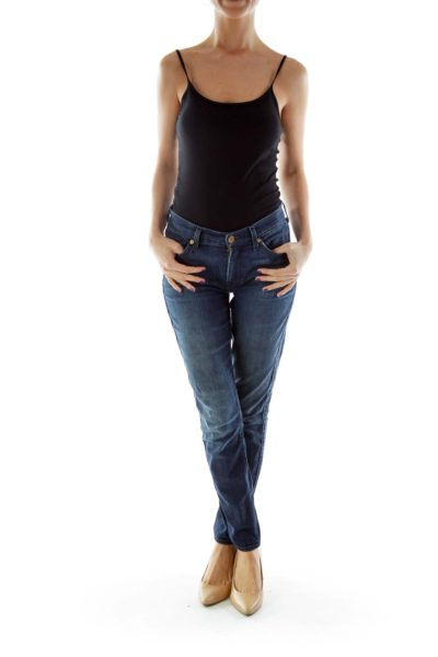 Blue Skinny Denim Jeans