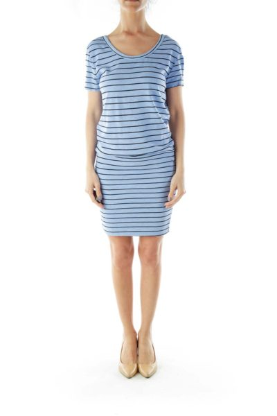 Periwinkle Striped Day Dress