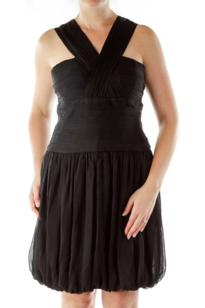 Black Bubble Cocktail Dress