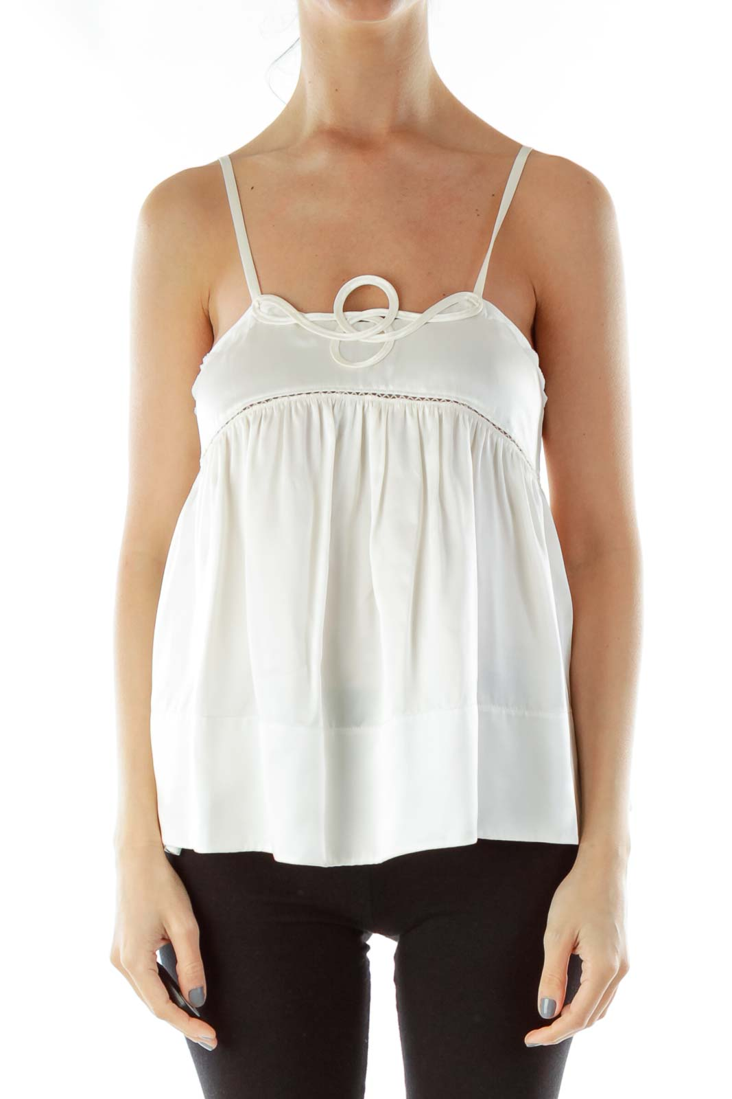 Cream Silk Tank Top
