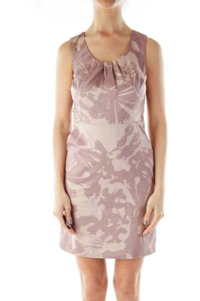 Mauve Sleeveless Work Dress