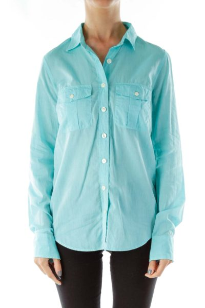 Turquoise Button Shirt