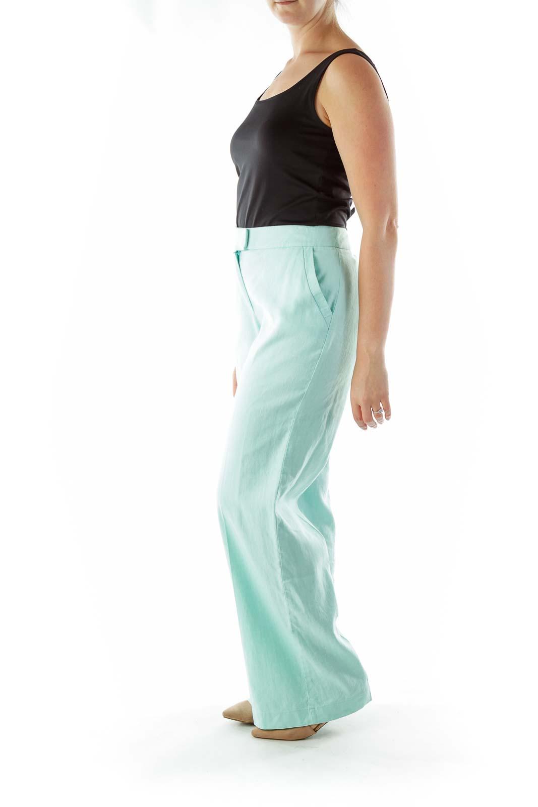 Sea Green Linen Pants