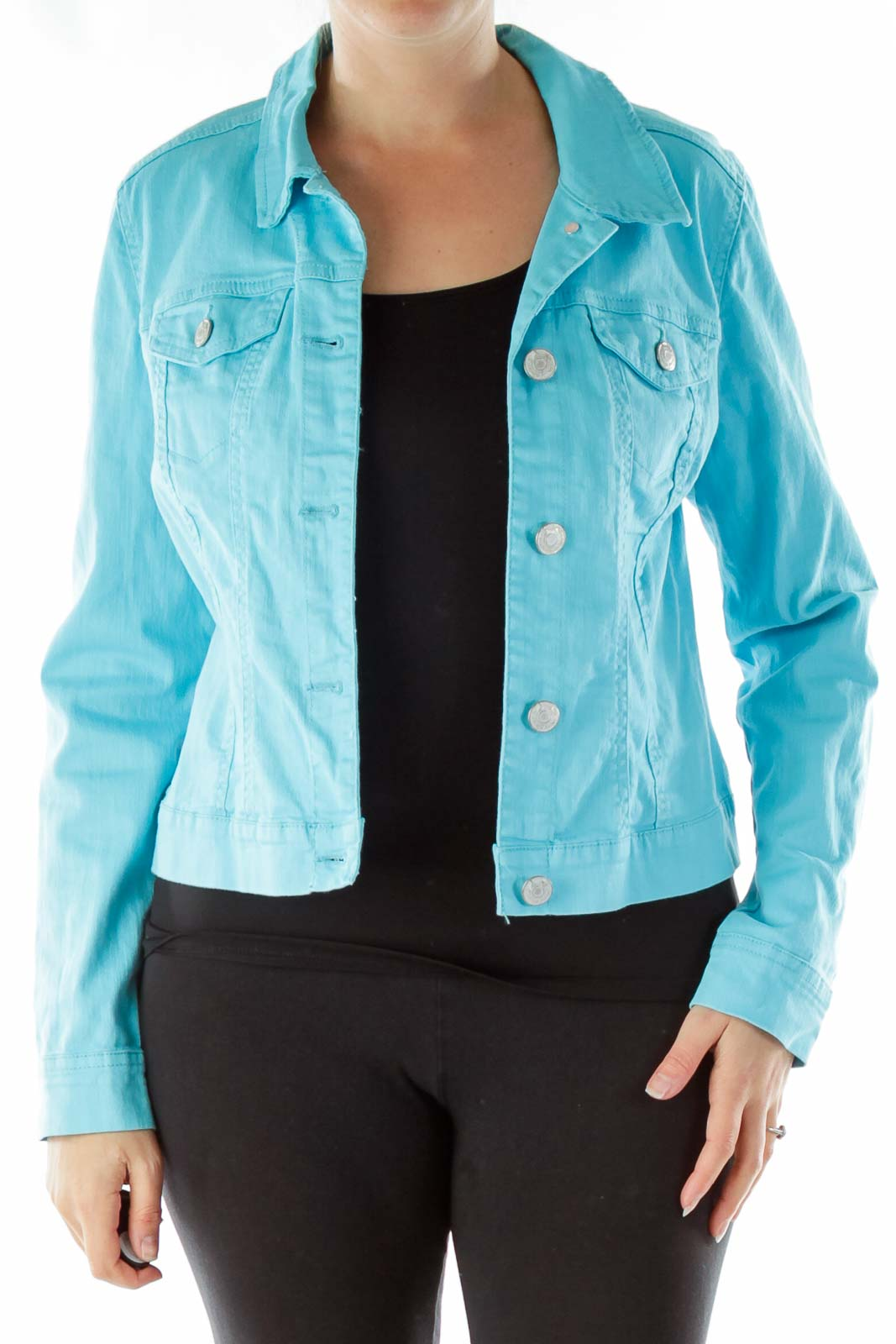 Blue Buttoned Denim Jacket