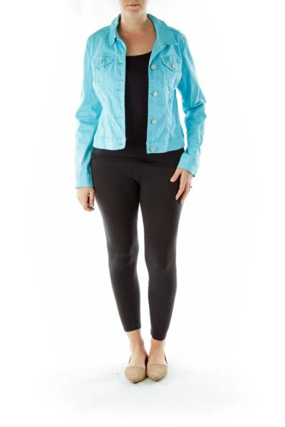 Blue Buttoned Denim Jacket