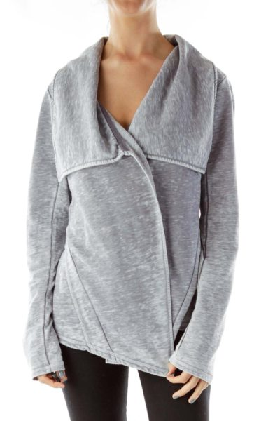 Gray Open Jacket