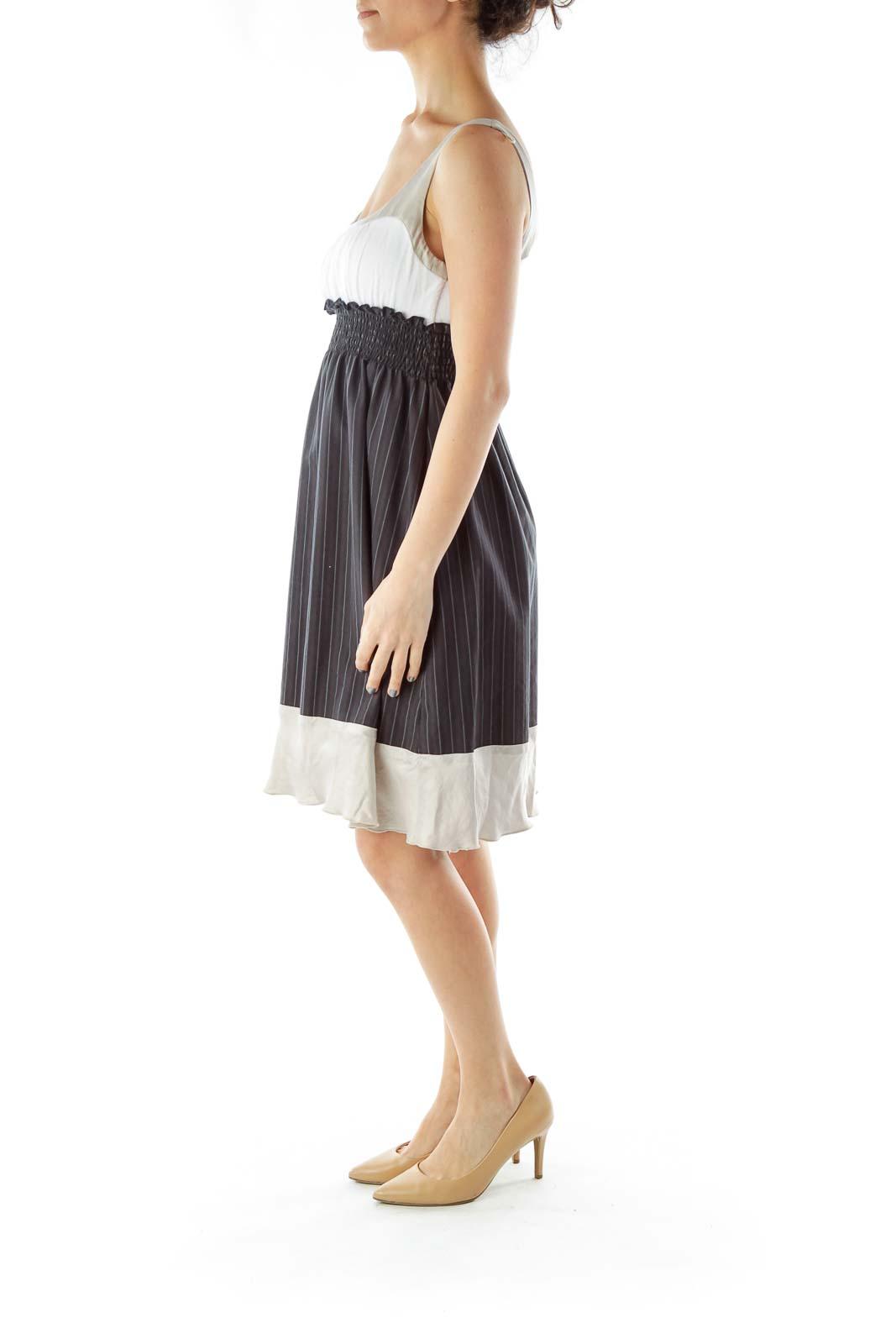 Blue Gray Pinstripe Dress