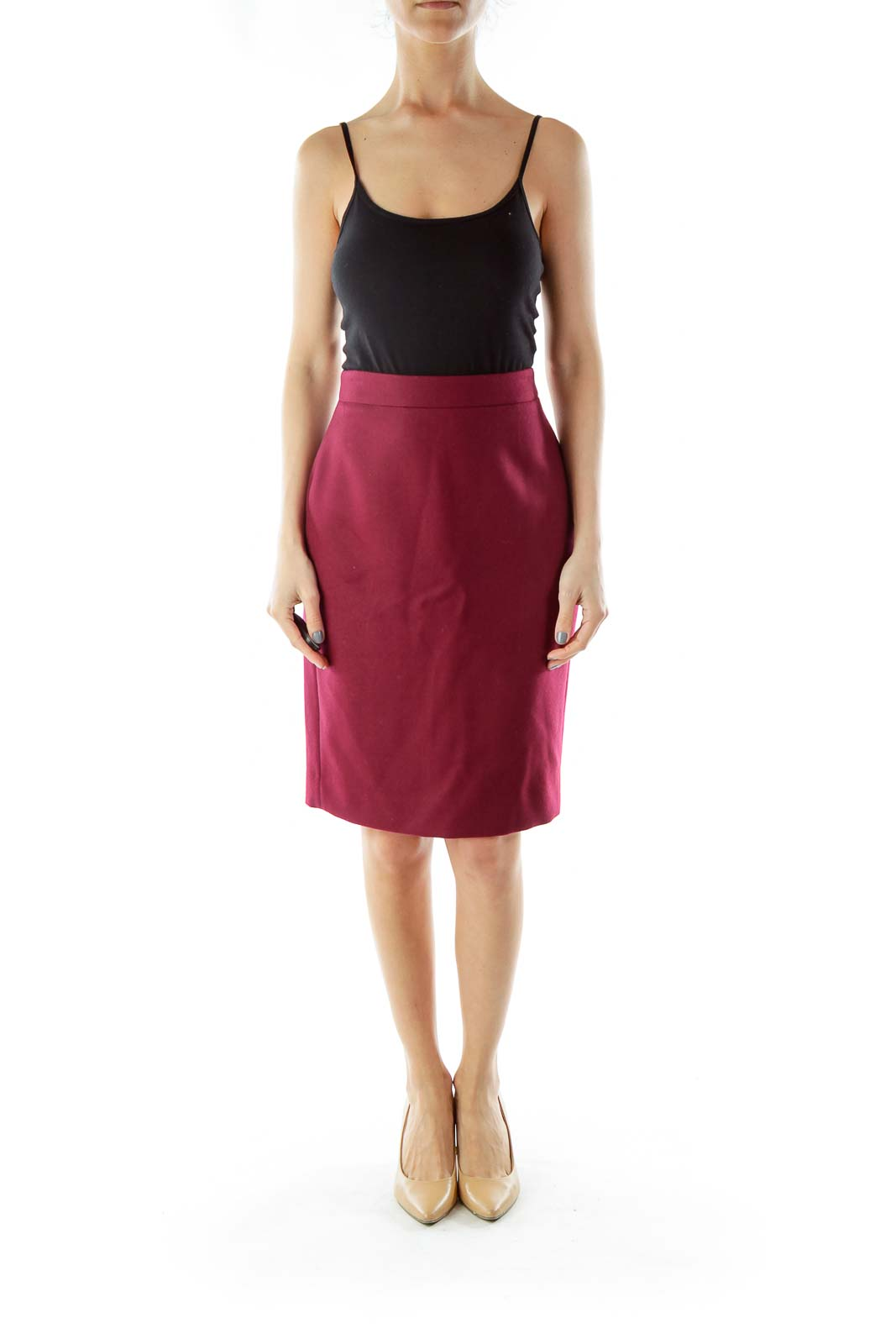 Burgundy Pencil Skirt