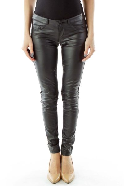 Black Pleather Pants