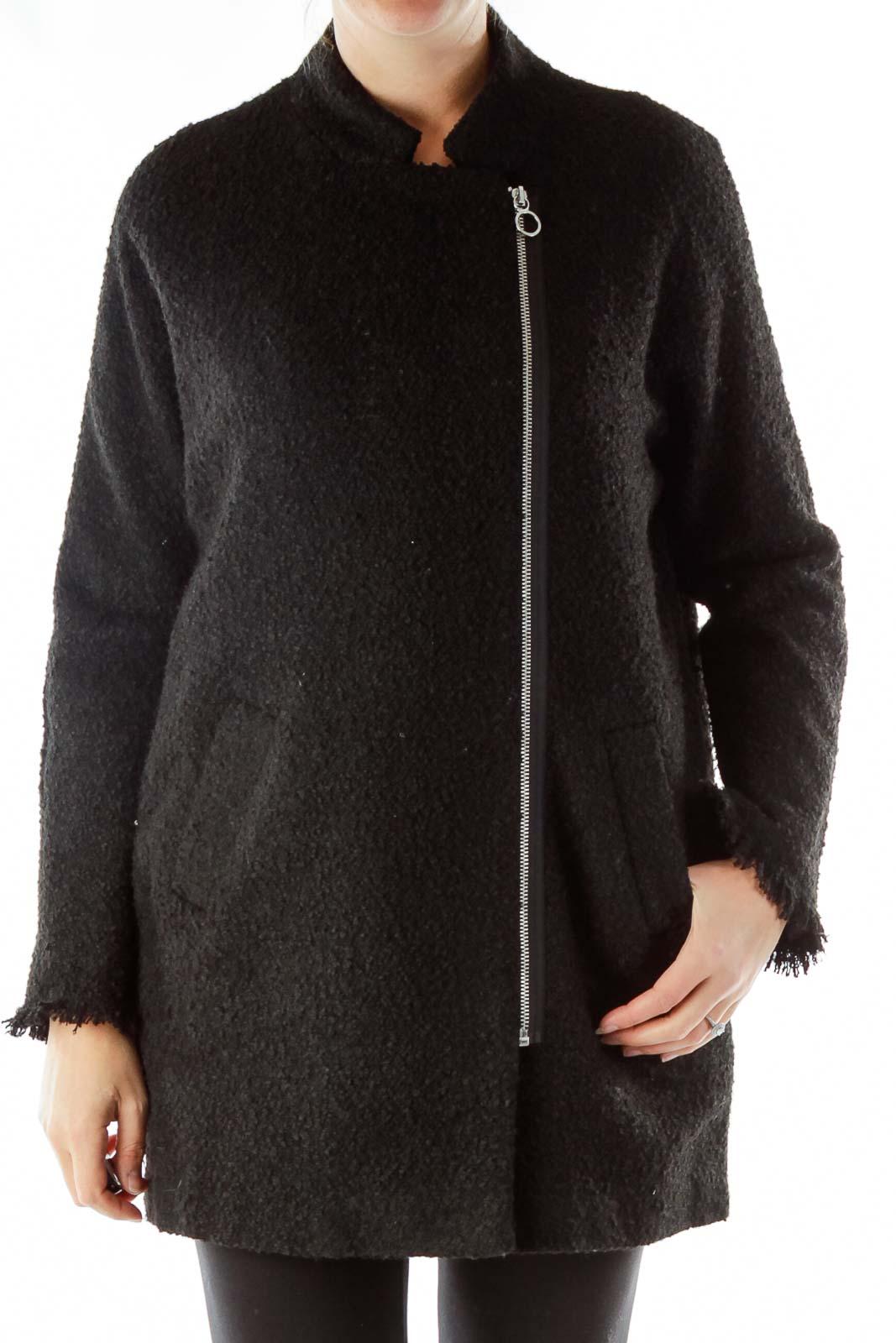 Black Zippered Coat
