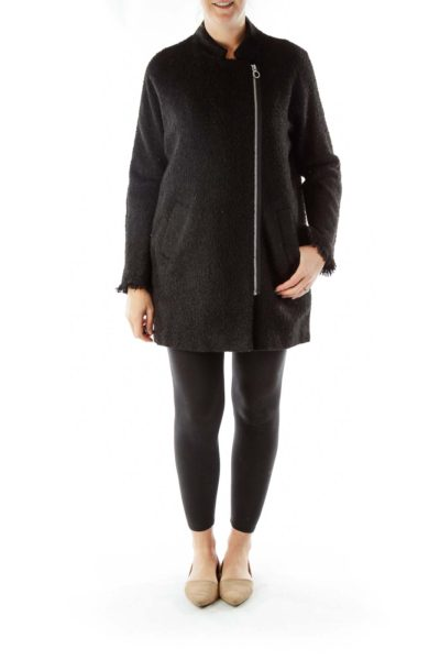 Black Zippered Coat