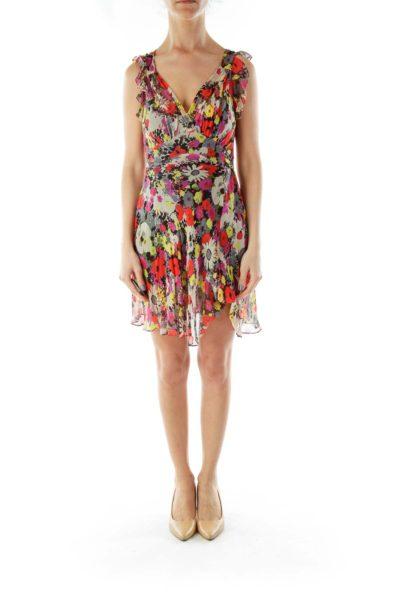 Multicolor Sheer Dress