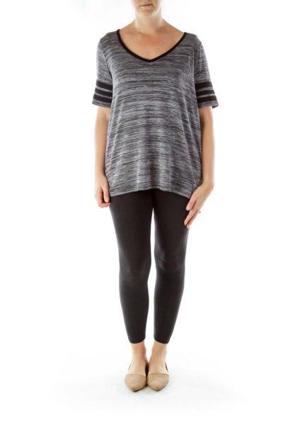 Gray Black Lace Knit