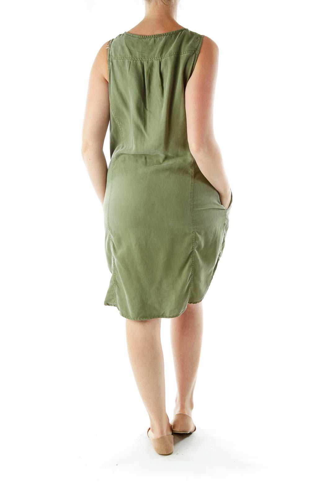 Green Denim Shift Dress