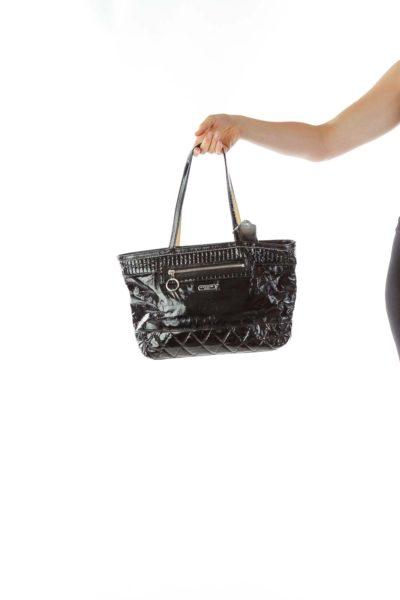 Black Patent Leather Tote