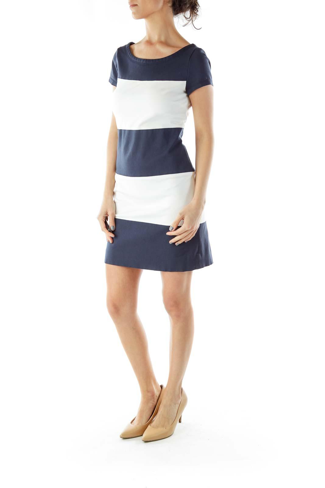Blue White Work Dress