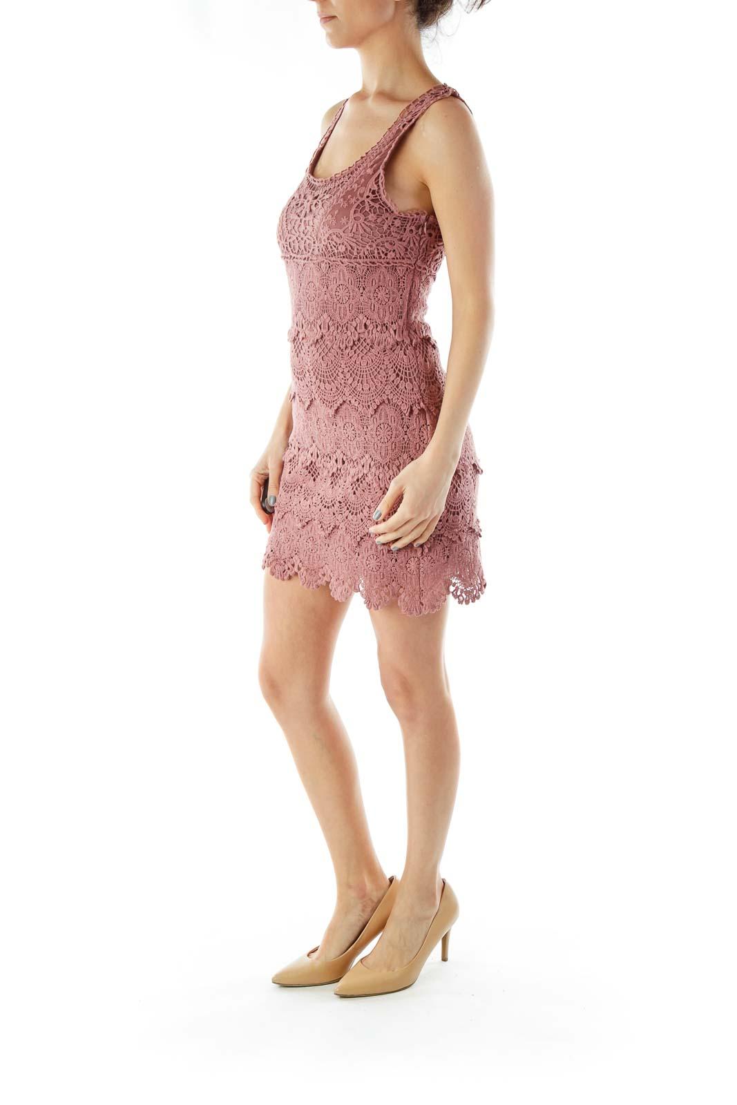 Mauve Crocheted Dress
