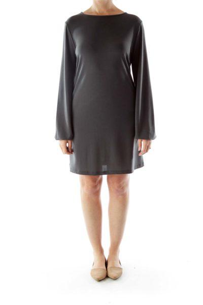 Dark Gray Long sleeve Dress