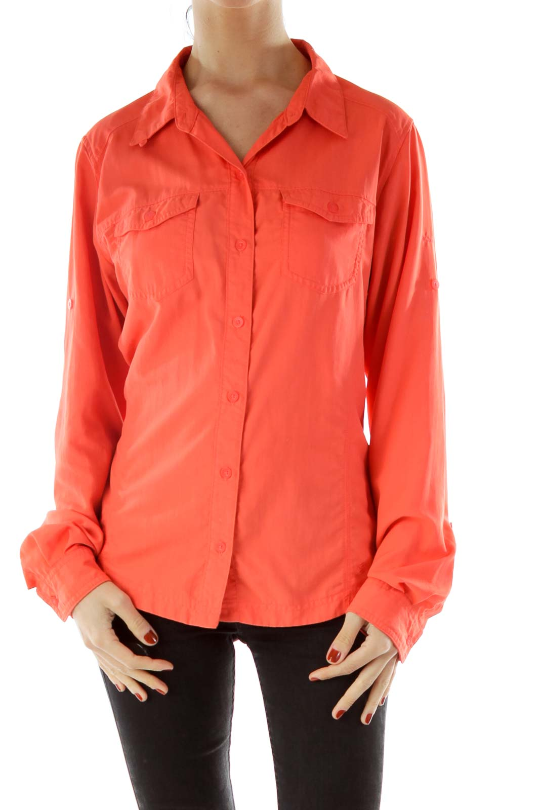 Orange Collared Shirt