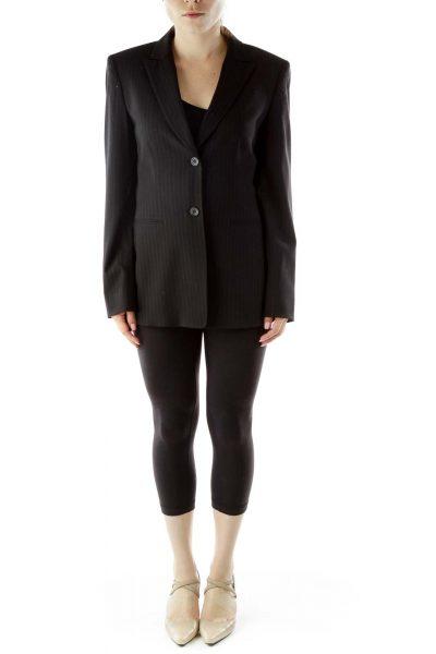 Black Pinstripe Blazer