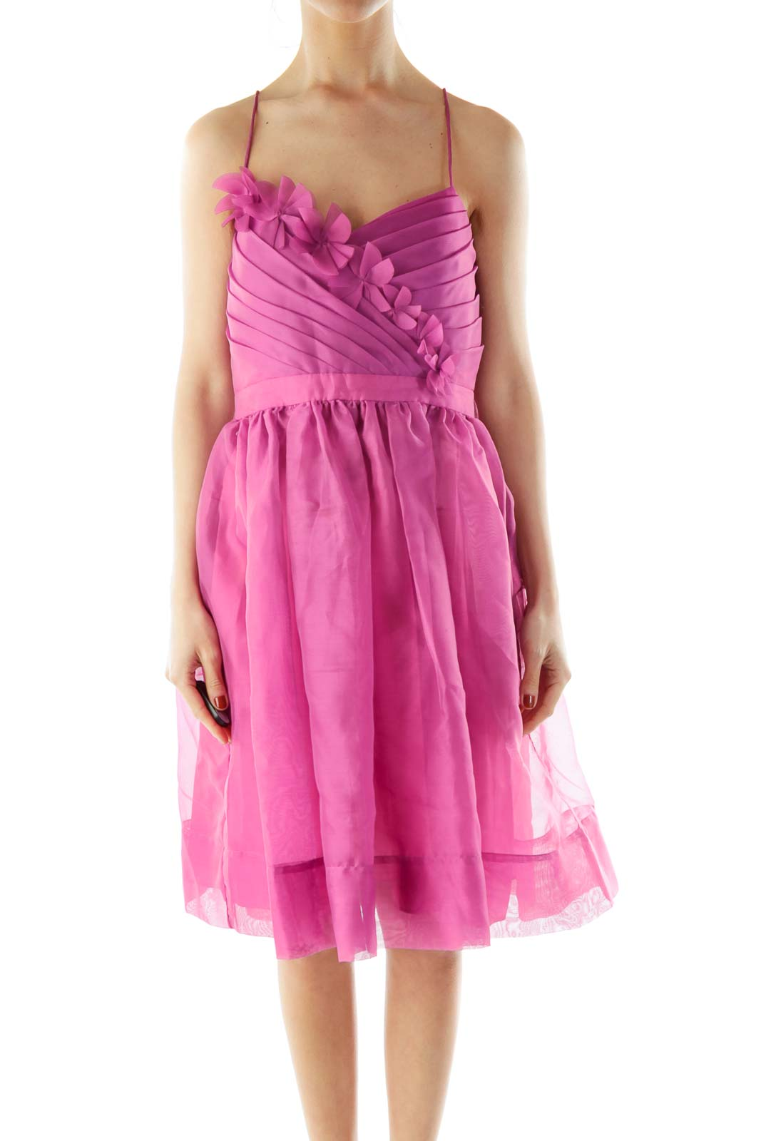 Purple A-Line Slip Cocktail Dress